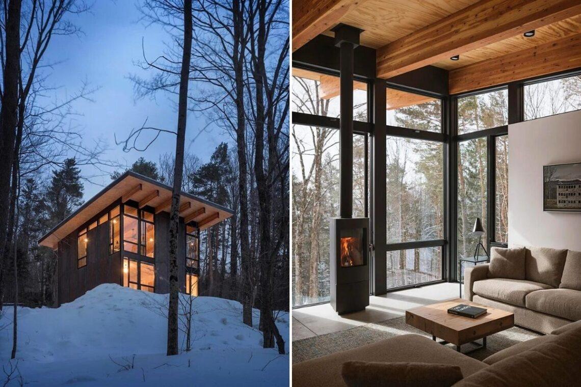 cabana de concreto metal e madeira olson kundig foto 9