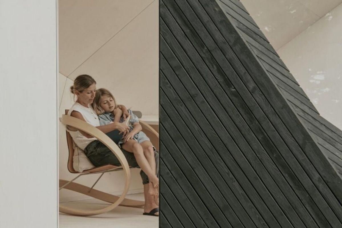 cabana de madeira home office ilusão de ótica koto foto 2