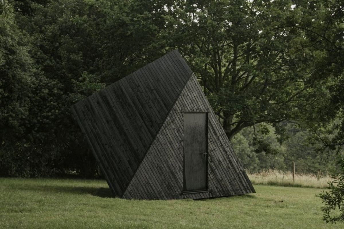 cabana de madeira home office ilusão de ótica koto foto 3