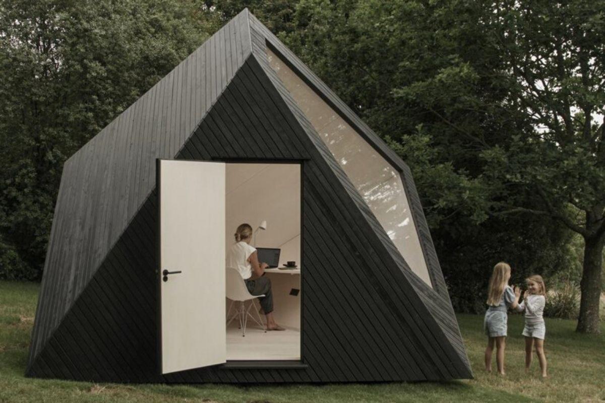 cabana de madeira home office ilusão de ótica koto foto 4