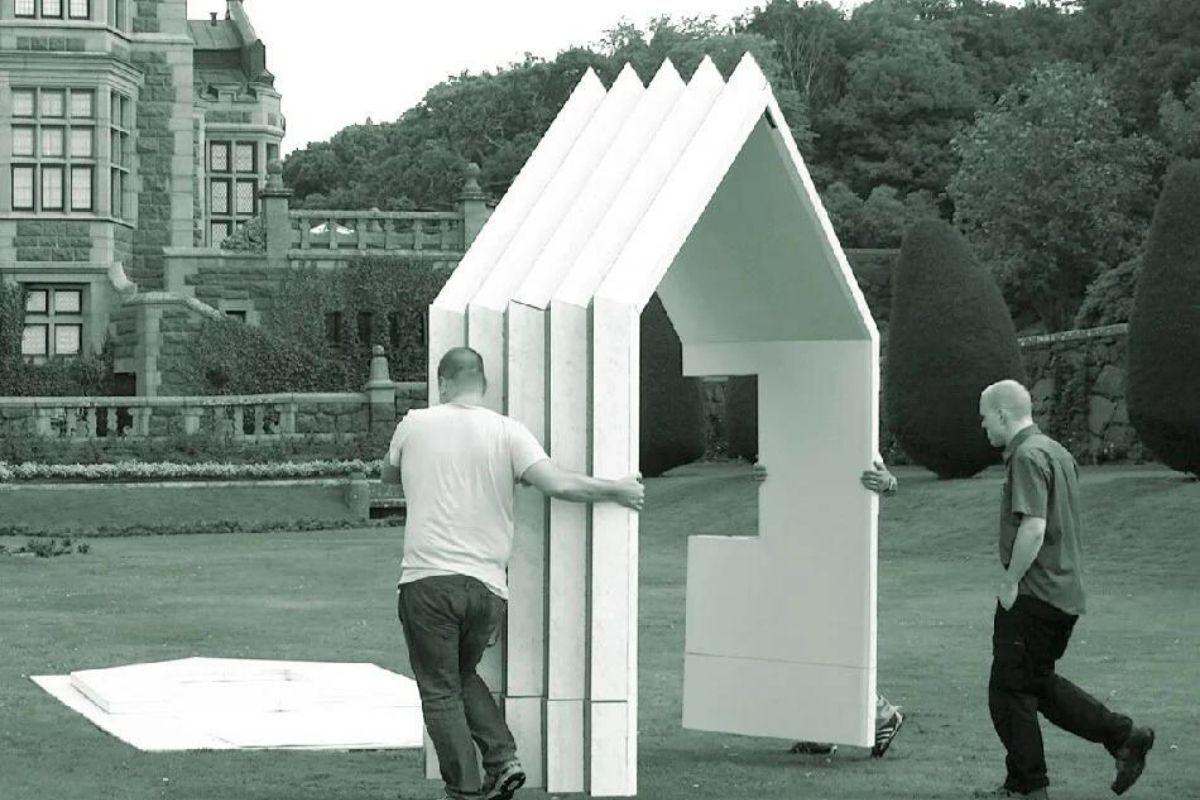 cabana de papel montagem 4