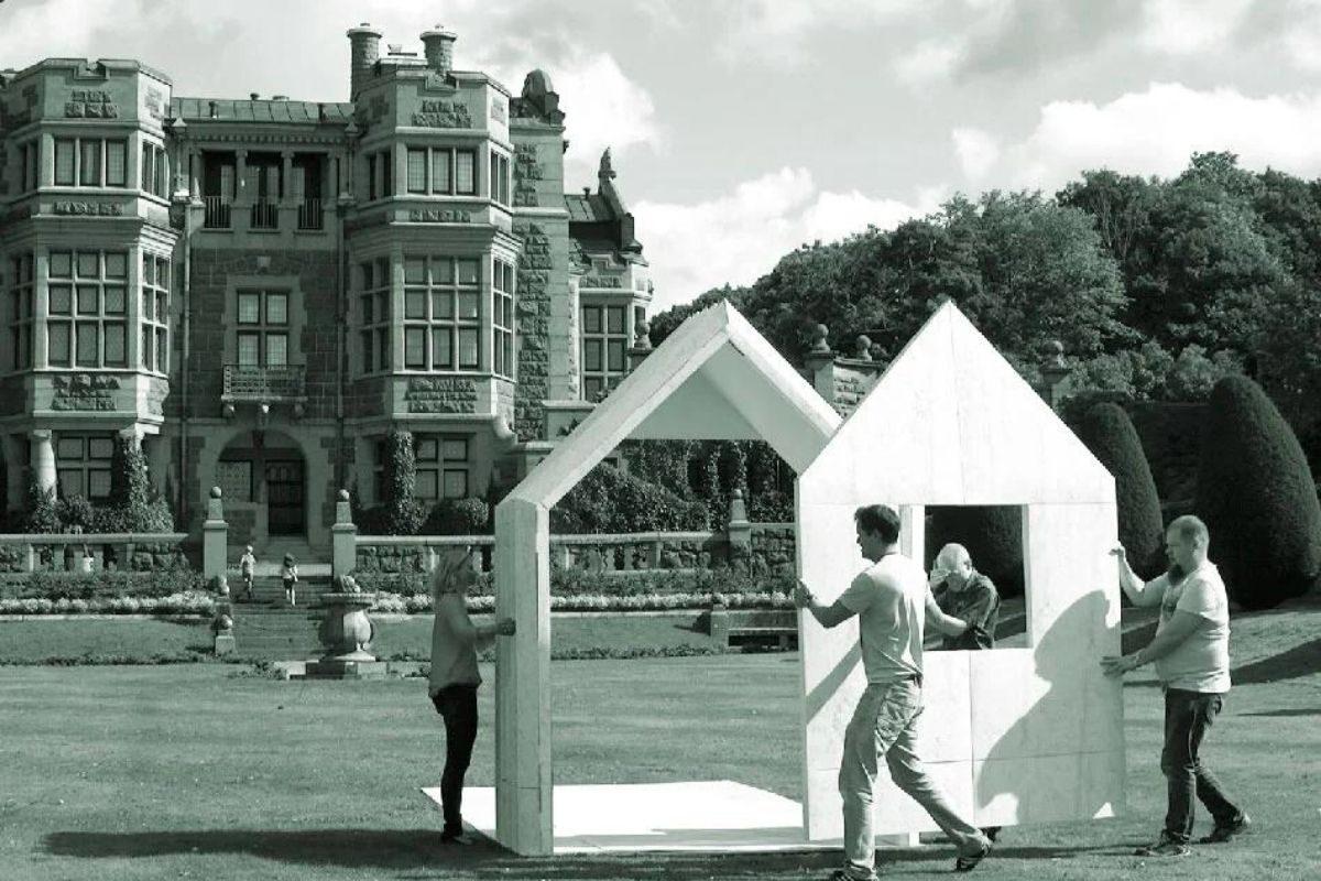 cabana de papel montagem 6