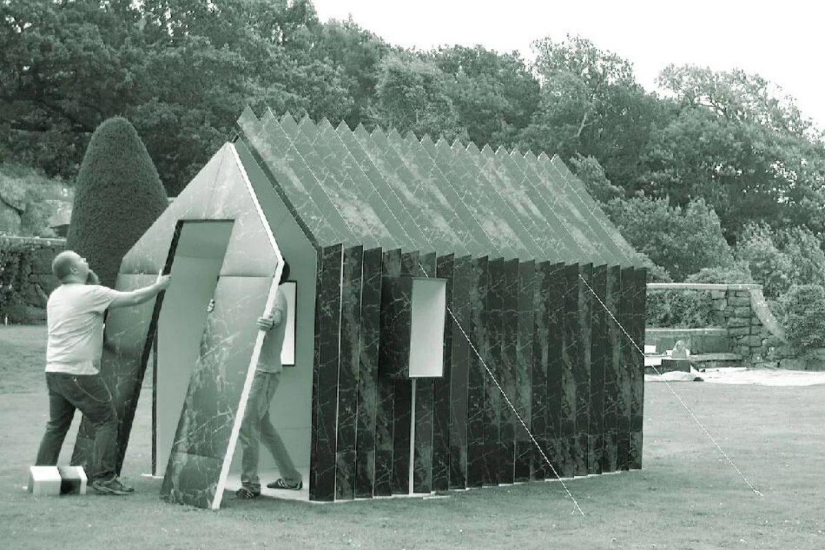 cabana de papel montagem 8