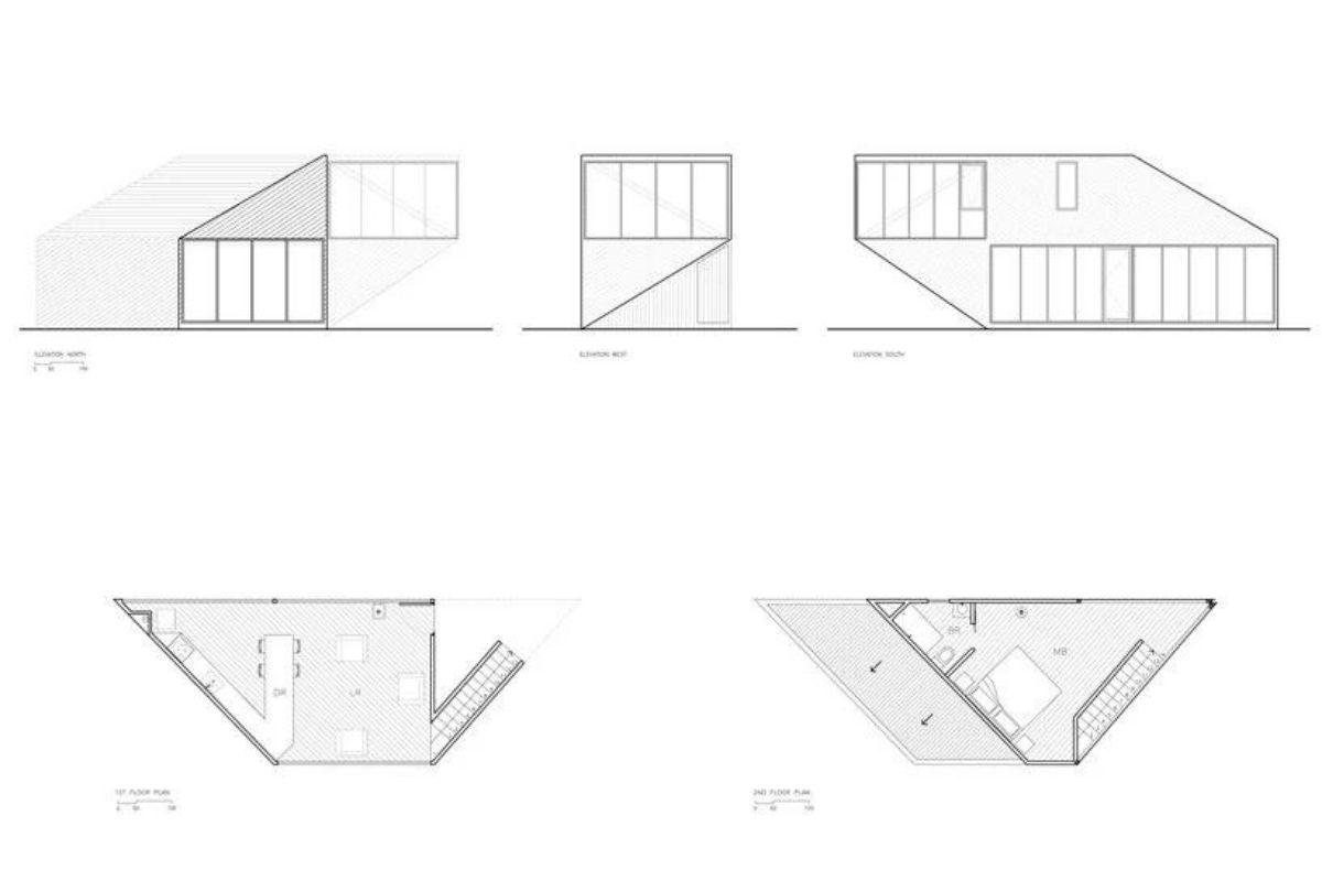 casa angular 2dm arquitetos chile foto 11