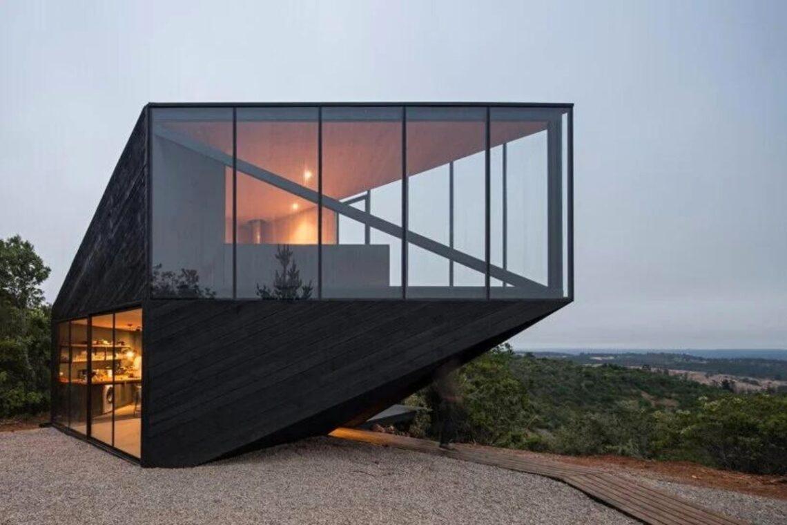 casa angular 2dm arquitetos chile foto 5