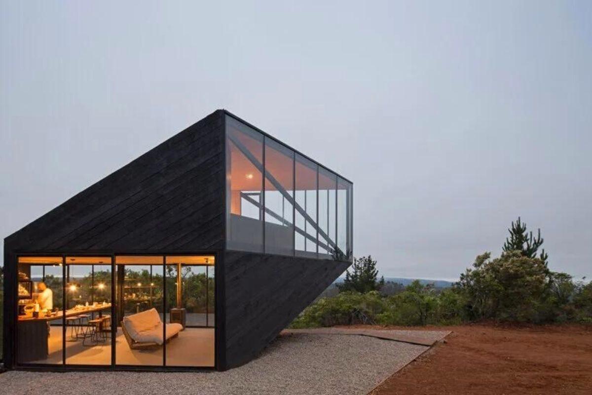 casa angular 2dm arquitetos chile foto 9