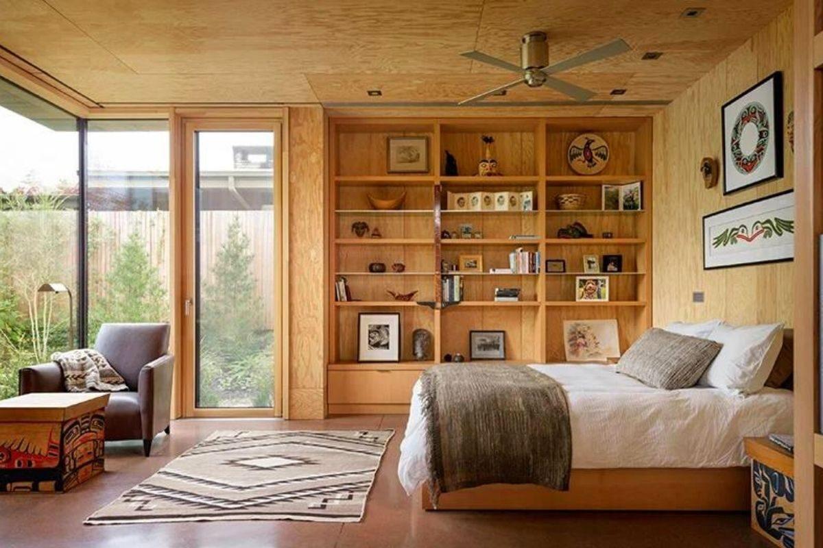 casa de madeira exposta e vidro olson kunding foto 3