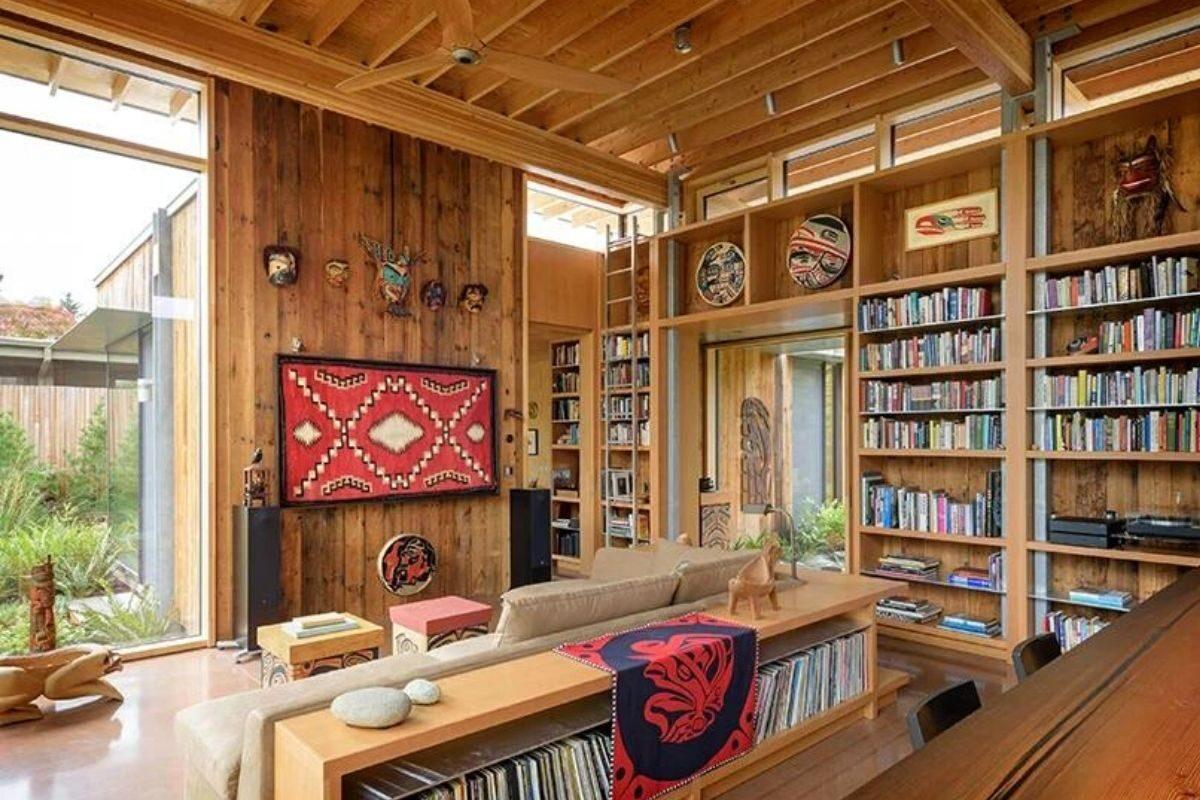 casa de madeira exposta e vidro olson kunding foto 4