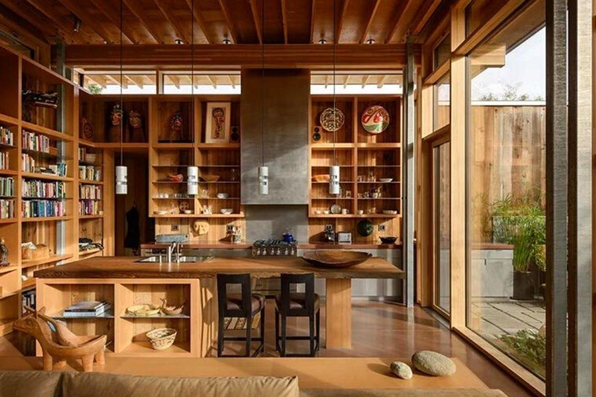 casa de madeira exposta e vidro olson kunding foto 6