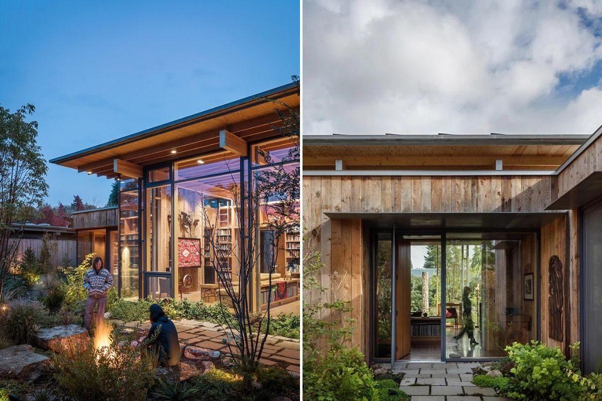 casa de madeira exposta e vidro olson kunding foto 7