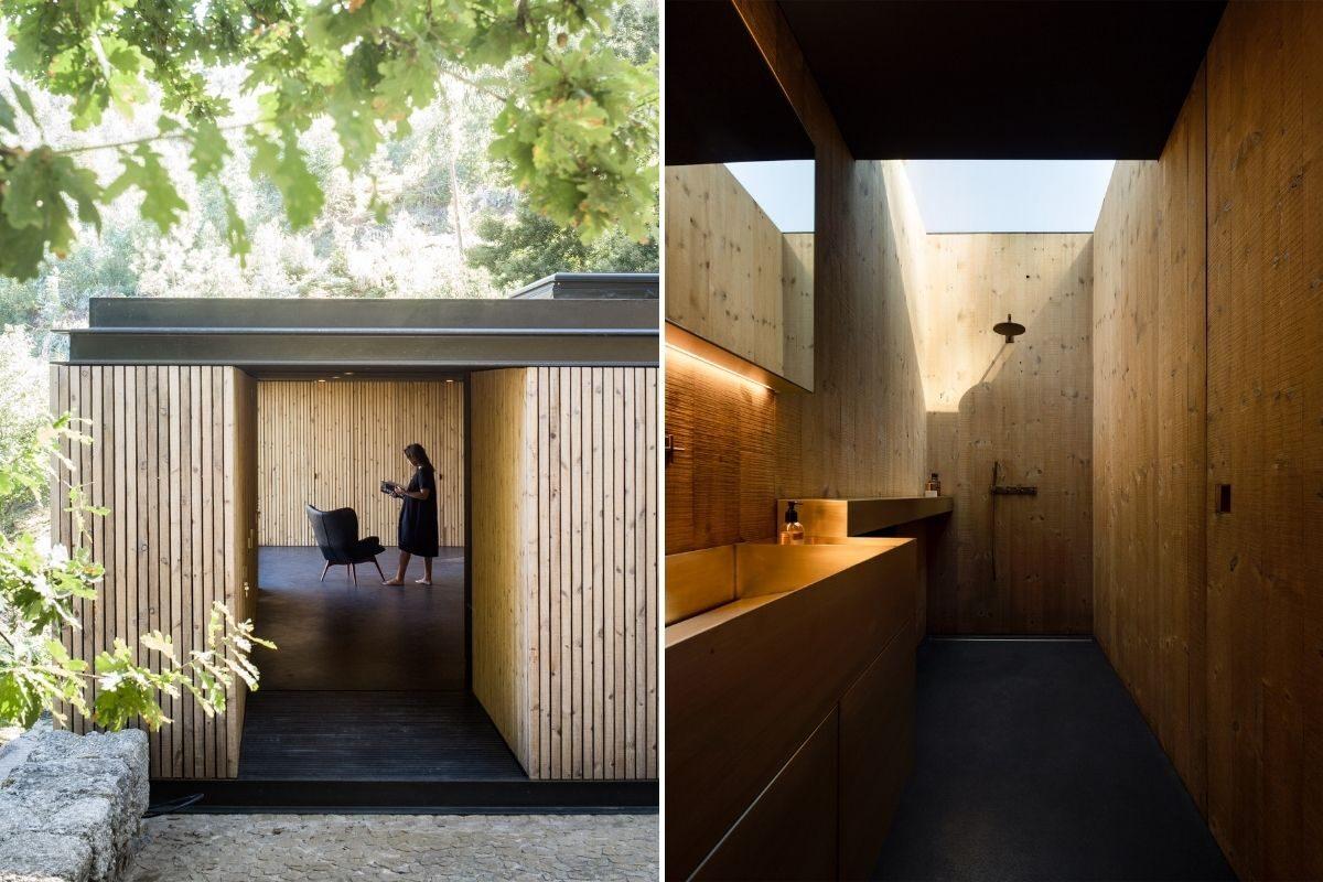 casa de madeira minimalista portugal foto 11