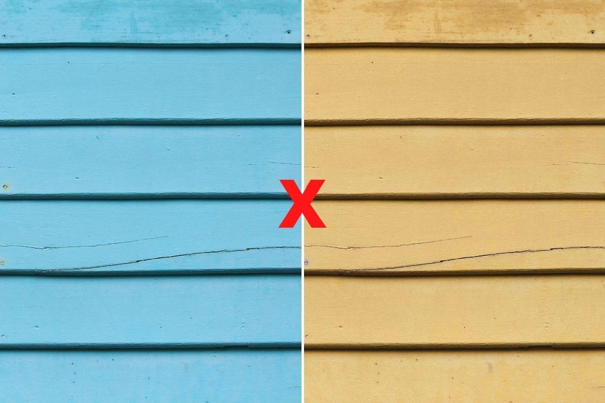 casa de madeira pintada ou envernizada