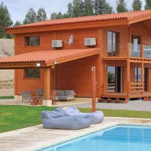 casa de madeira portugal casa diff modelo t3-240f