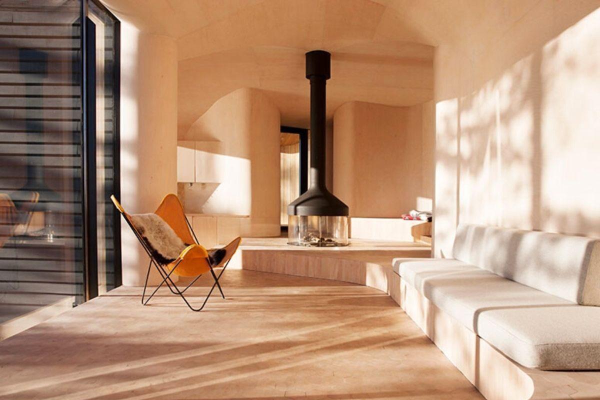 casa de madeira revestida em basalto atelier oslo foto 10