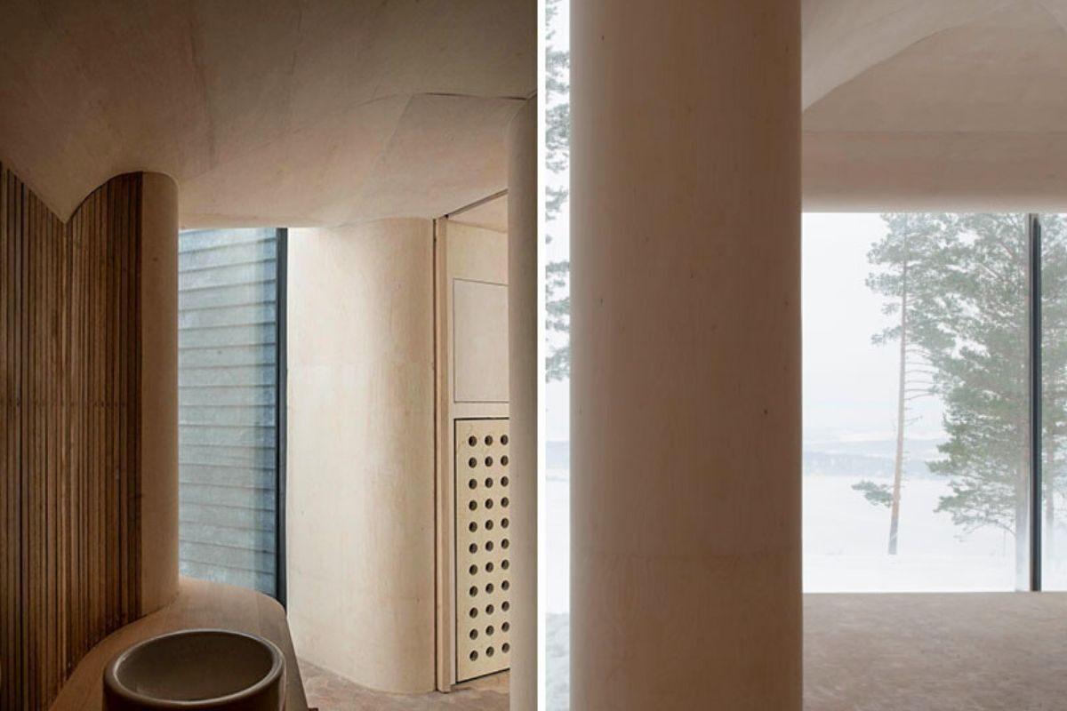 casa de madeira revestida em basalto atelier oslo foto 12
