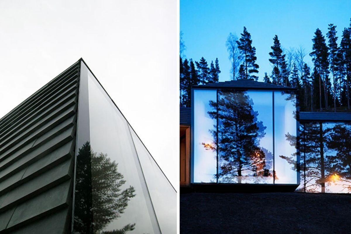 casa de madeira revestida em basalto atelier oslo foto 13