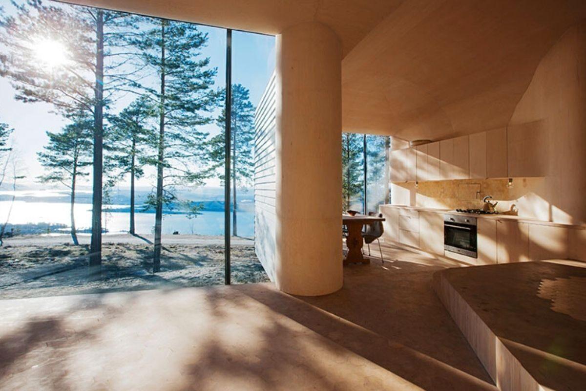 casa de madeira revestida em basalto atelier oslo foto 6