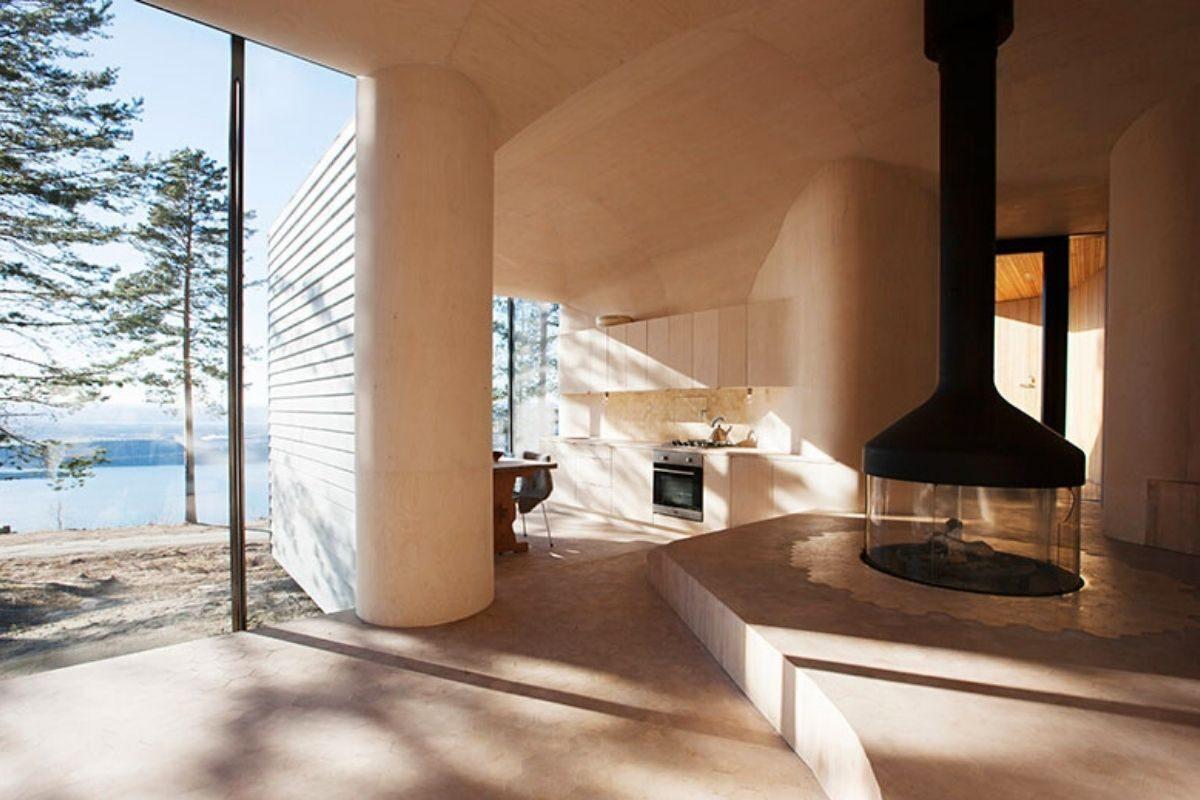 casa de madeira revestida em basalto atelier oslo foto 9