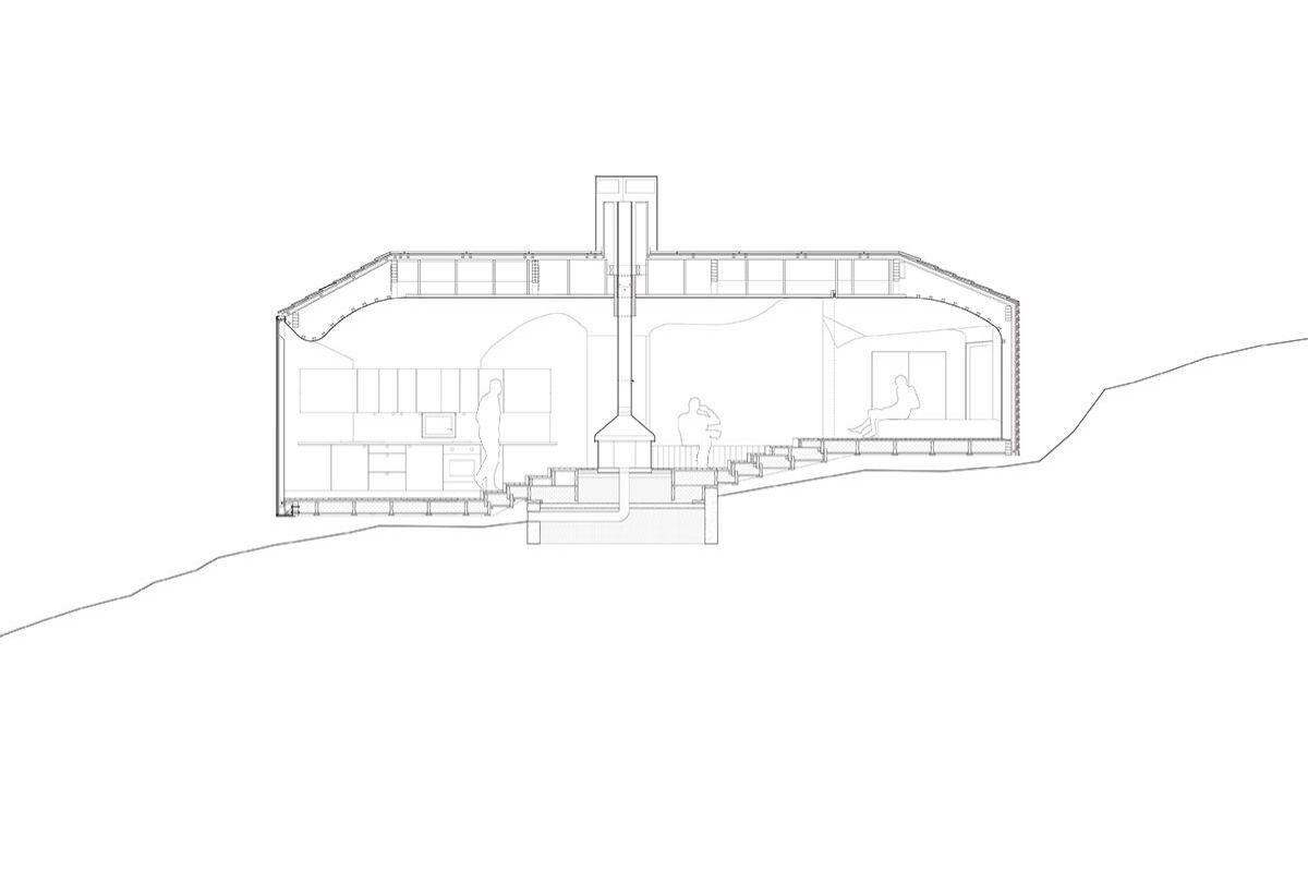 casa de madeira revestida em basalto atelier oslo projeto 2