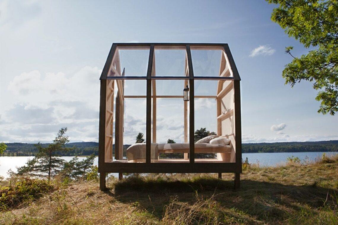 mini-cabana de madeira e vidro jeanna berger foto 1