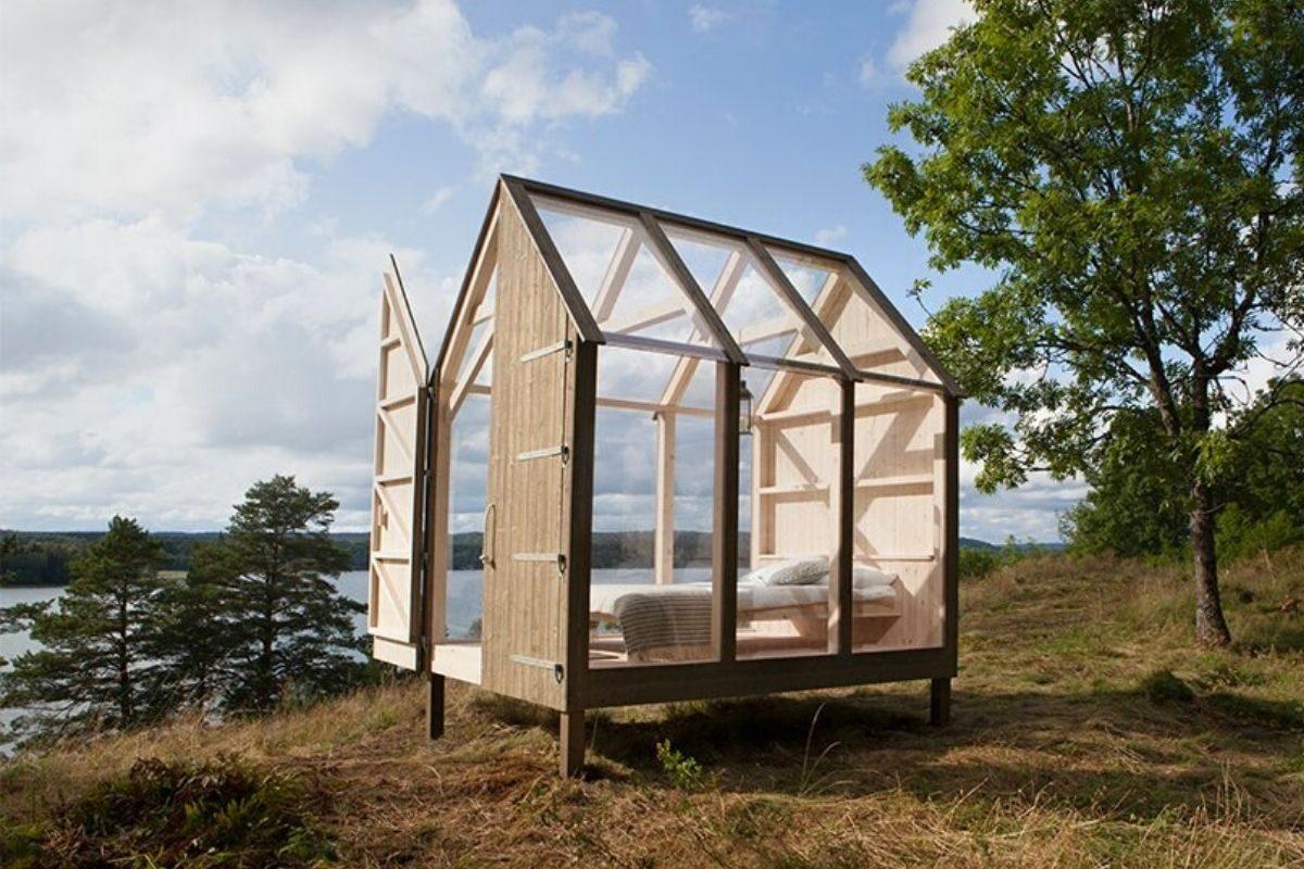 mini-cabana de madeira e vidro jeanna berger foto 2