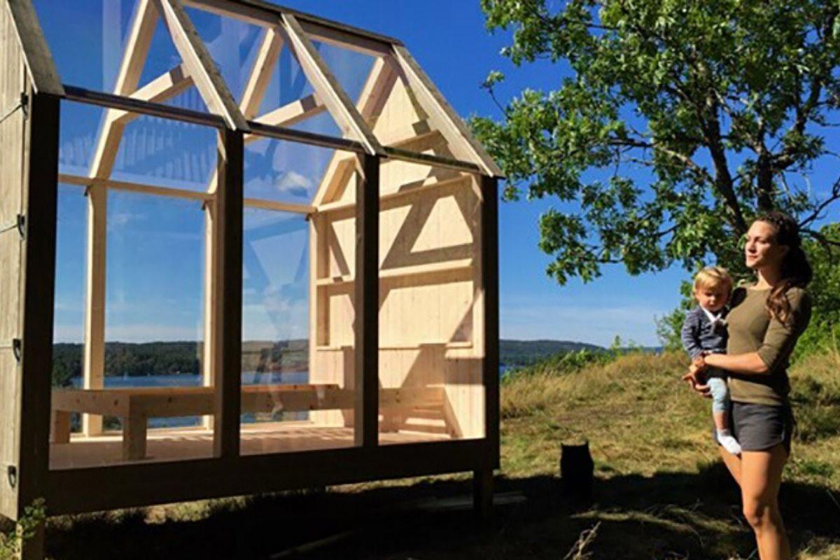 mini-cabana de madeira e vidro jeanna berger foto 3