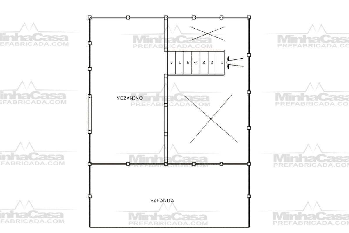 11 planta de casa Modelo Pousada 4 de 44,22M² 2