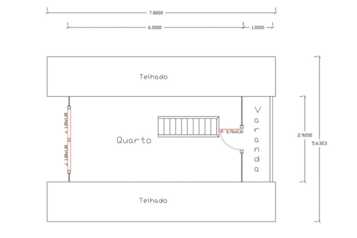 12 planta de casa Modelo Pomerode de 49,20M² 2