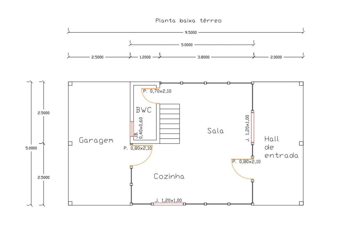 13 planta de casa Modelo Lages de 85,00M² 1