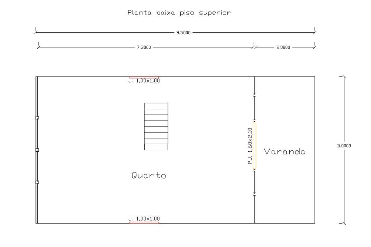 13 planta de casa Modelo Lages de 85,00M² 2