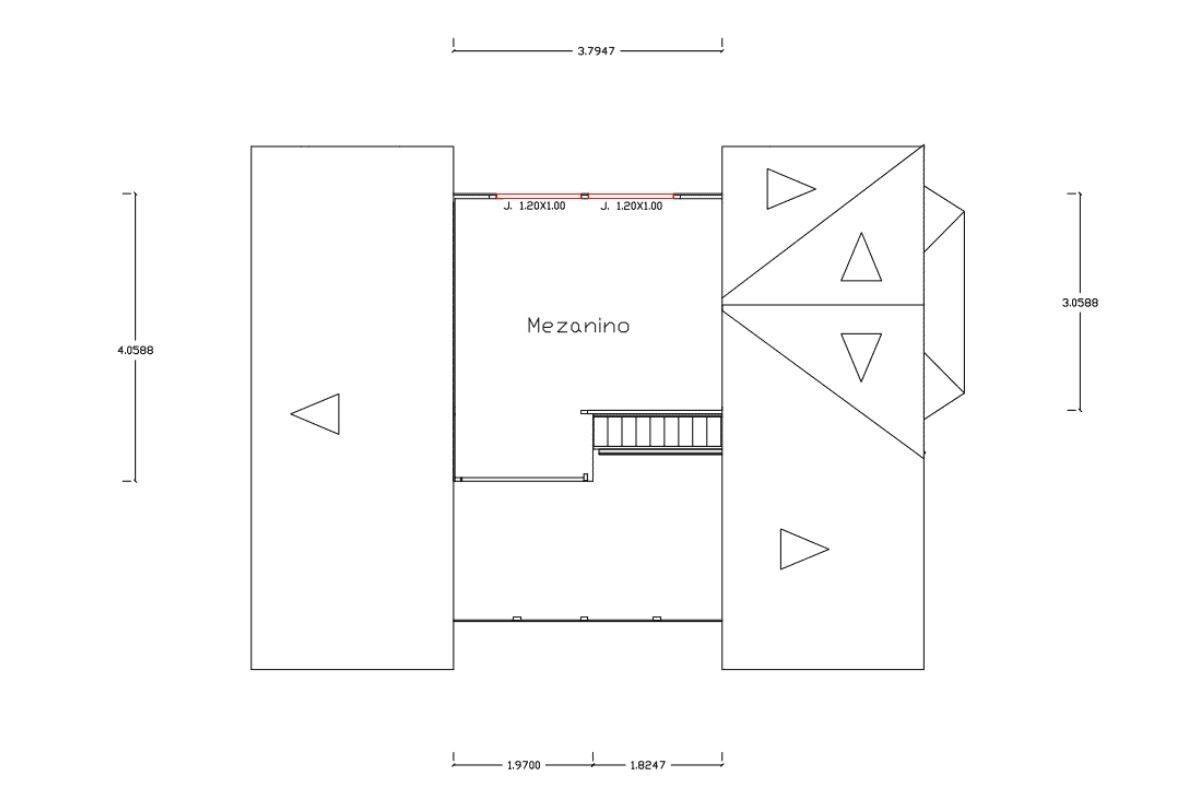17 planta de casa Modelo Tijucas de 61,50M² 2
