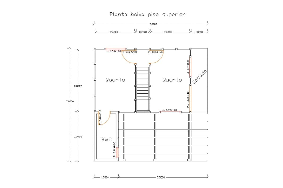 18 planta de casa Modelo Itajaí 78,50M² 2