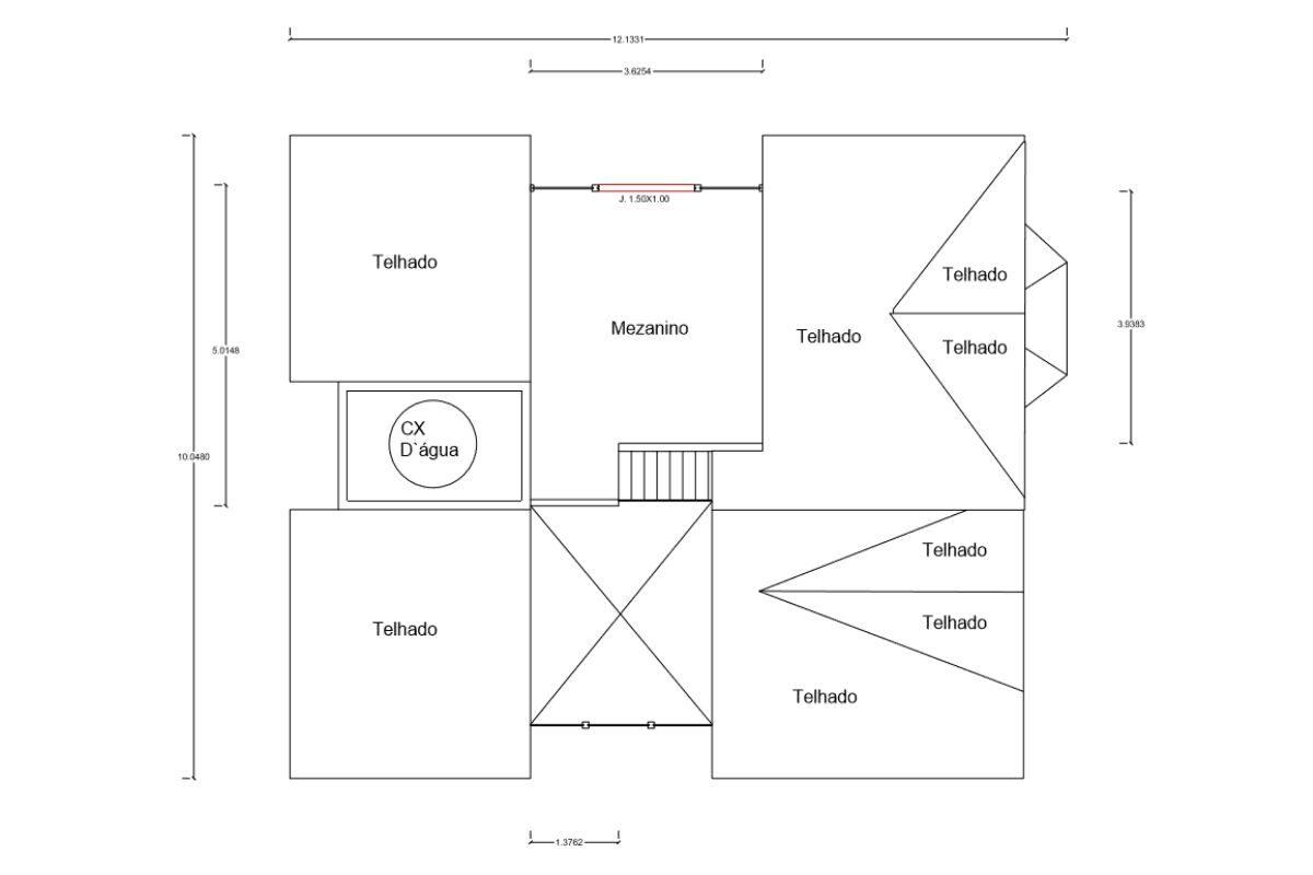 21 planta de casa Modelo Criciúma II de 102,50M² 2
