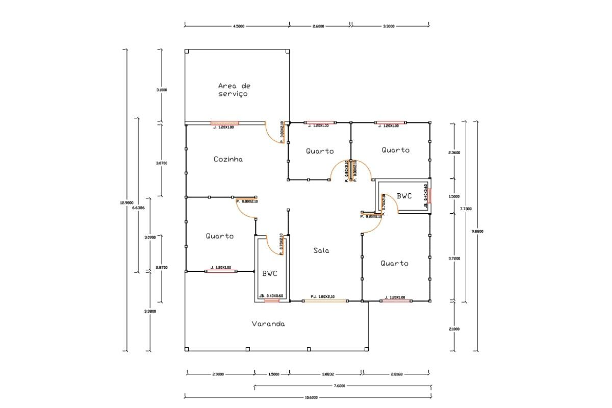 45 Casa de madeira Modelo Navegantes 111 m²