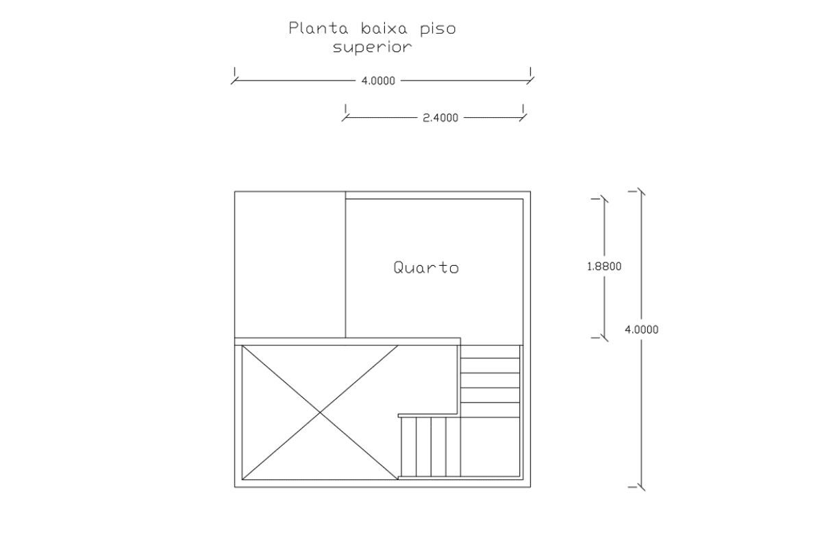 9 planta de casa Modelo Pousada III de 21,00M² 2