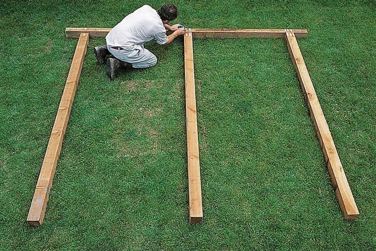 alinhando postes e vigas