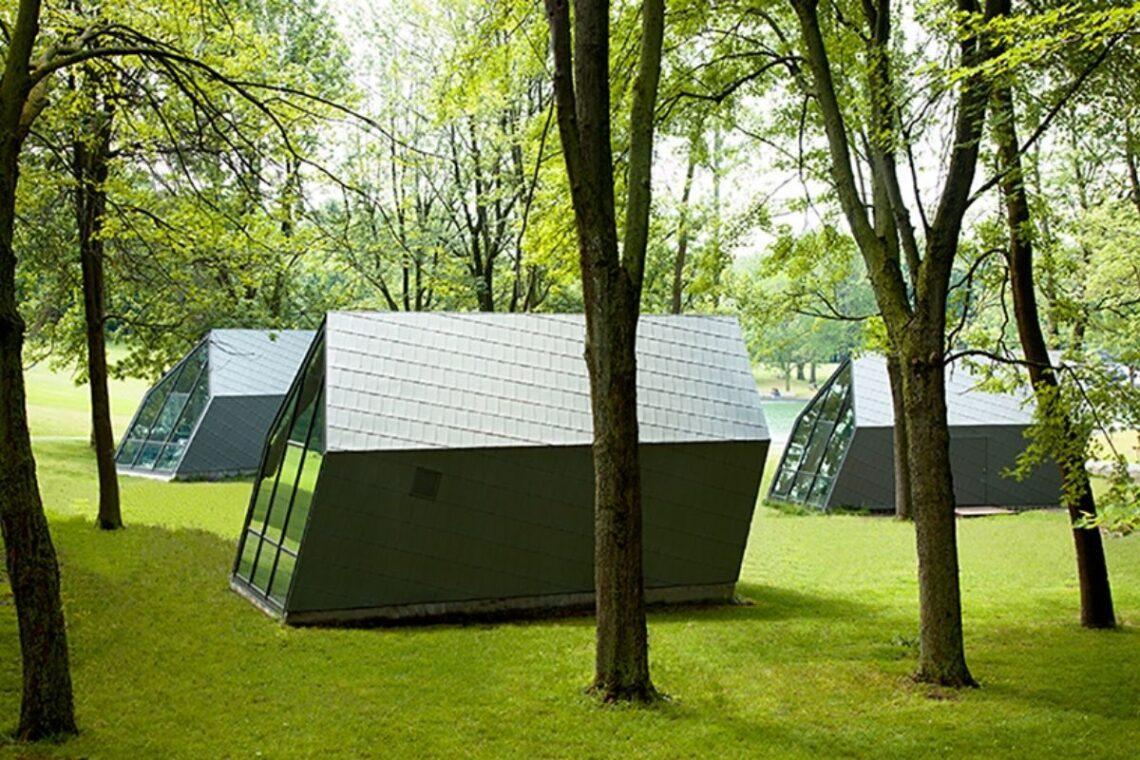 cabana angulada vento foto 1