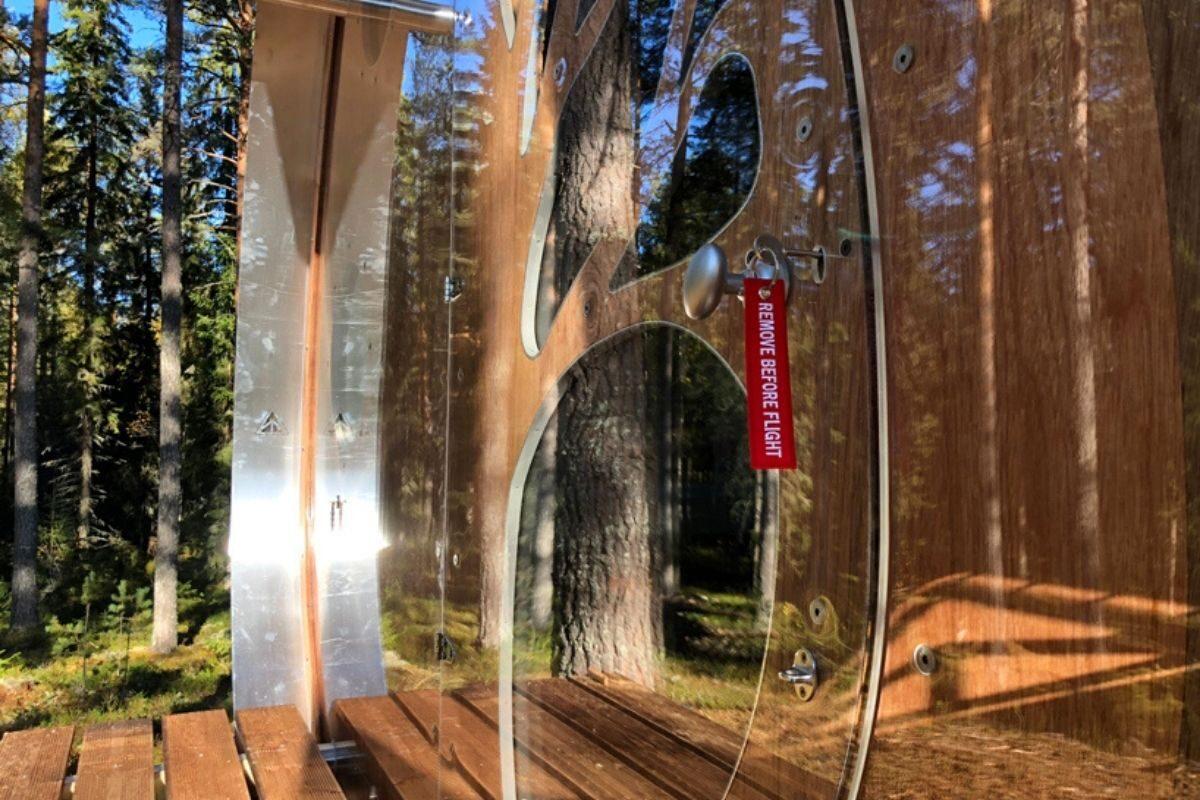cabana de madeira e alumínio fuselagem avião foto 8
