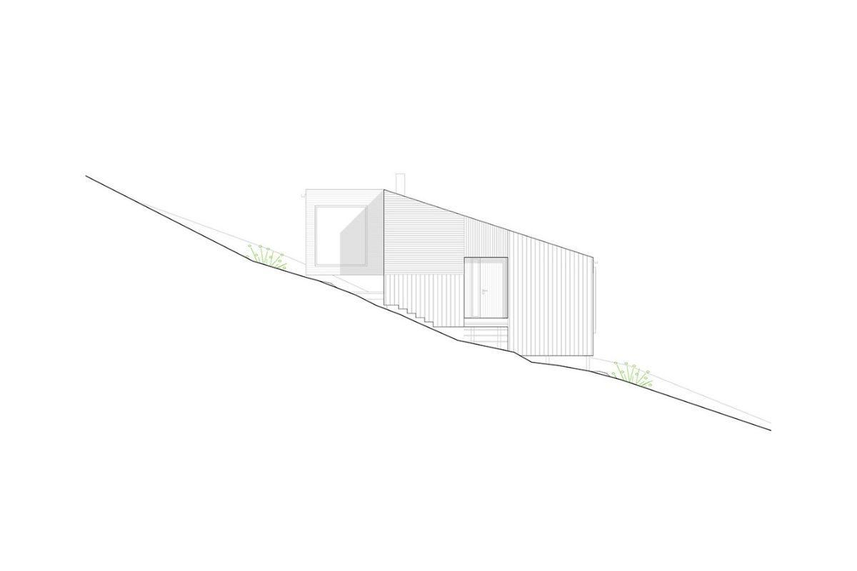 cabana de madeira na colina foto 12