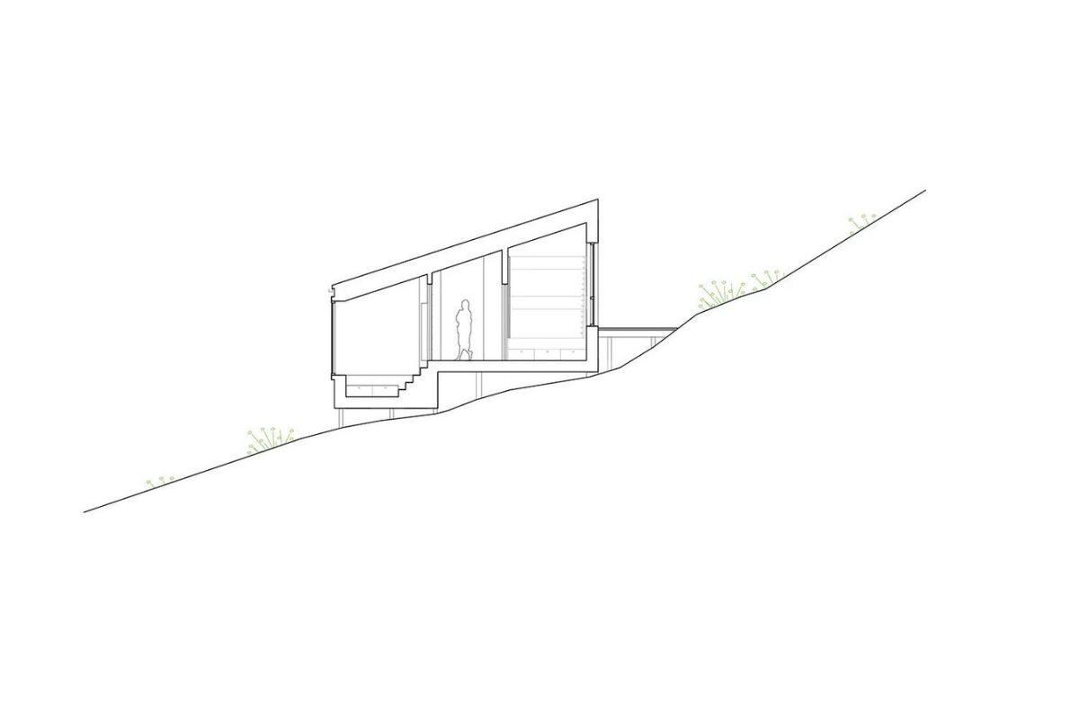 cabana de madeira na colina foto 13