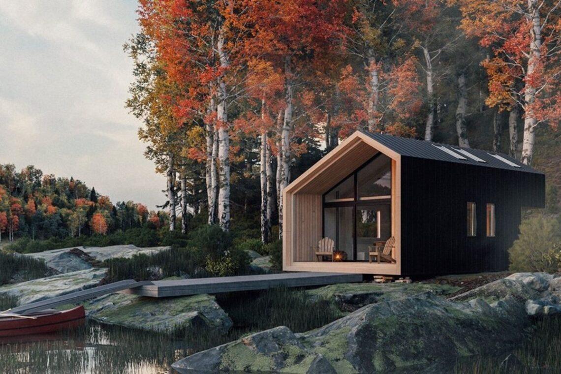 cabana de madeira pronta para montar foto 1