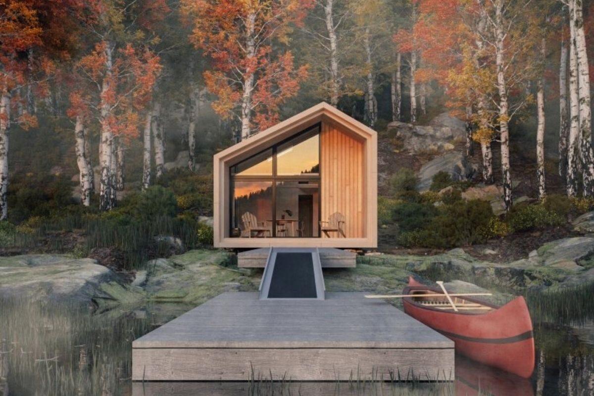 cabana de madeira pronta para montar foto 3