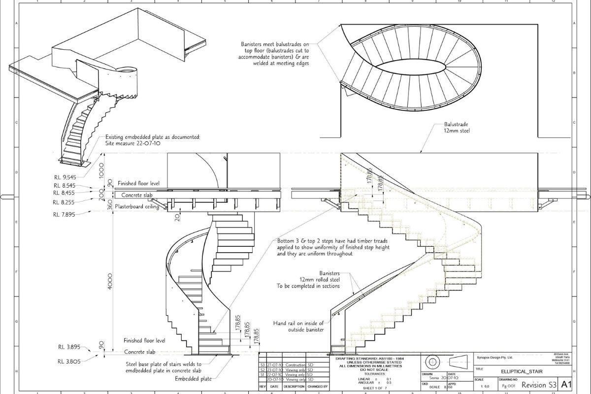 cálculo de diferentes escadas