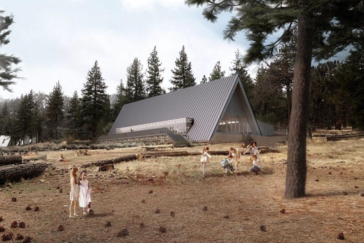 camping com chalés de madeira foto 2