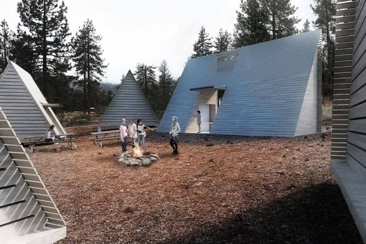 camping com chalés de madeira foto 3