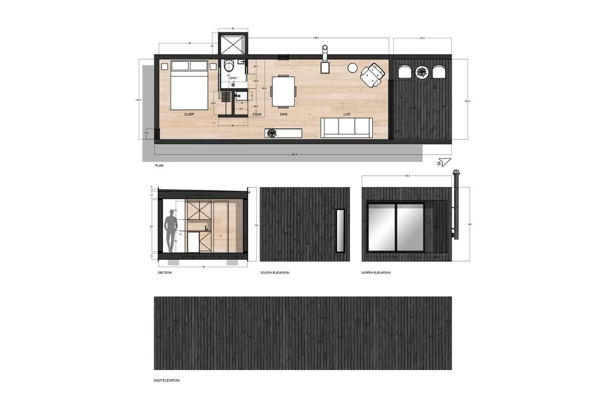 casa cubo de madeira mtd foto 11