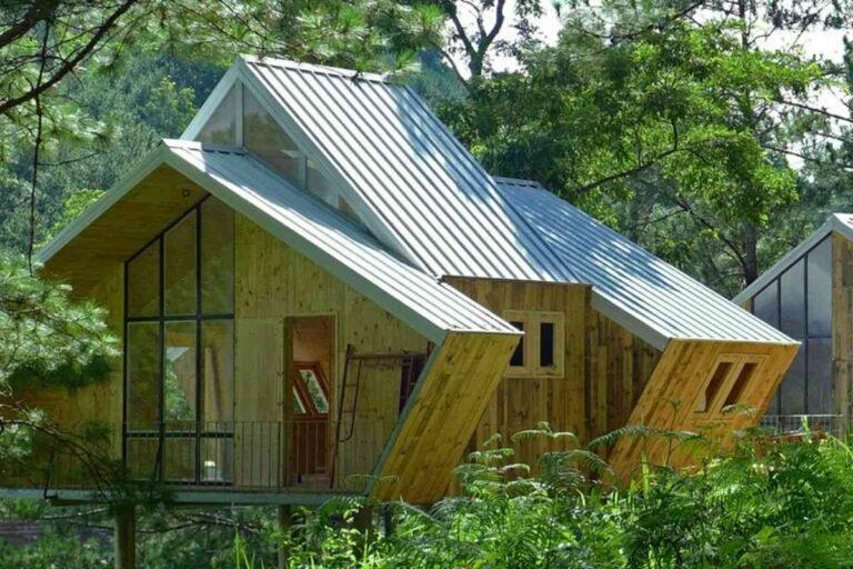 Casa de madeira geométricas apostam em design arrojado e ecologia