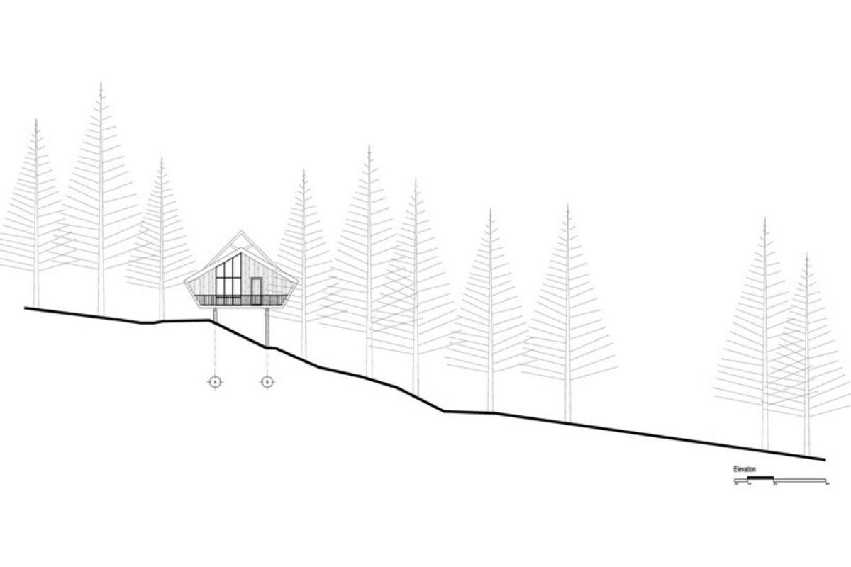 casa de madeira geométrica foto 7