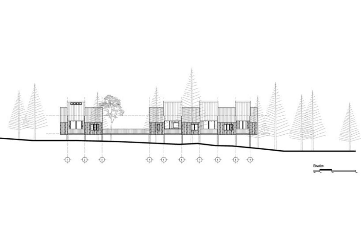 casa de madeira geométrica foto 8