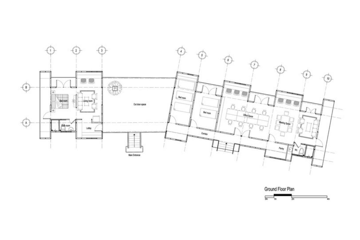 casa de madeira geométrica foto 9